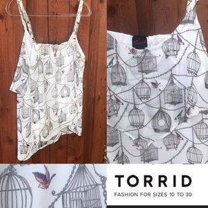 TORRID | Birdcage Tank Top with adj straps Sz 1